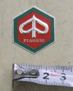 ベスパ エンブレム トップマーク 六角マーク VESPA 50S 100 125ET3 ピアジオ PIAGGIO 新品 ロゴ ピアジオマーク レッド