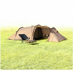 イグニオ 3人用 トンネル型テント ドームテント ベージュ IGNIO ソロキャンプ カマボコテント