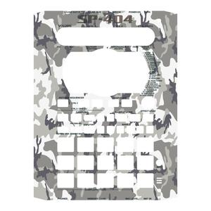 ローランド SP-404 カスタムスキン 黒 迷彩 カモ サンプラー スキンシール ステッカー Roland SP-404 カバー本体は付属しません