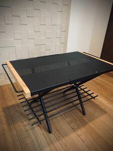 焚き火テーブル ブラックカスタムパーツ2点セット
