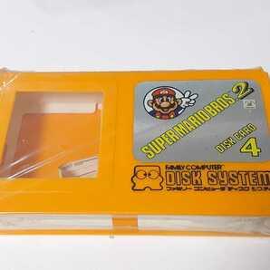★未使用・希少 ディスクカードフォー色オレンジ ディスクカード4枚収納マリオケース FCファミコンディスク