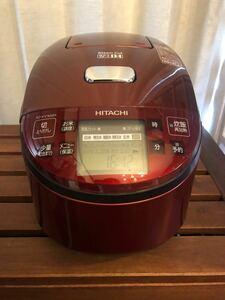 HITACHI 炊飯器5.5合 レッド