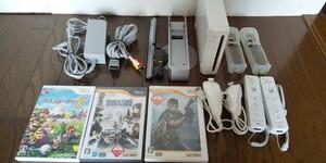 【動作確認済】Wii本体&バイオハザードなどのソフト 合計14点セット