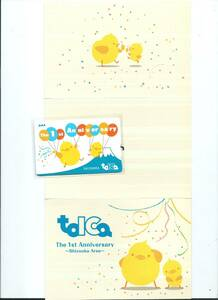Suica等全国相互利用可能★TOICA静岡デビュー1周年記念TOICA★デポジットのみ台紙付★JR東海トイカ ヒヨコ