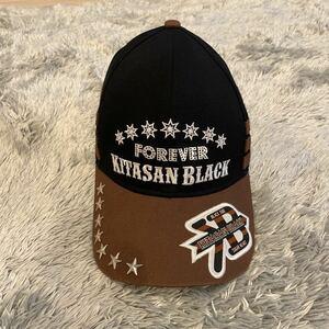美品 キタサンブラック キャップ 帽子 レア 阪神競馬場 競馬 北島三郎 ブラック×ブラウン