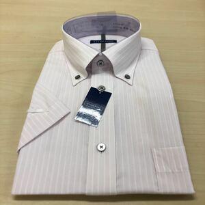 半袖デザインワイシャツ形態安定ボタンダウンST900-I LL43cm