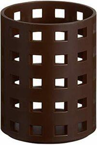 直径8×高さ10.5cm ライクイット (like-it) 収納ケース ブリックス ペン スタンド 直径8x高10.5cm ブラ
