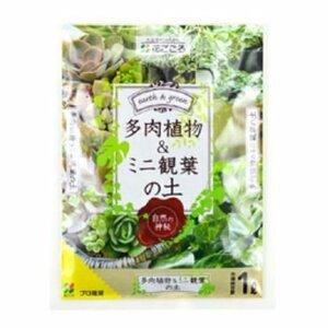 花ごころ 多肉植物&ミニ観葉の土 1L