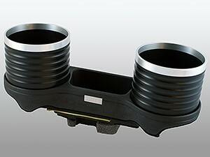 【ALCABO/アルカボ】 ドリンクホルダー ブラック/リング カップ タイプ BMW 5 Series MC前 セダン(E60)/ツーリング(E61)/M5 [AL-076C-BS]