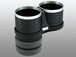 【ALCABO/アルカボ】 ドリンクホルダー ブラック/リング カップ タイプ BMW 7 Series E65/E66/F01/F02/F04 [AL-B109BS]