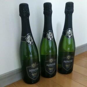 スパークリングワイン 泡 750ml スペイン産 ワイン プロヴェット ブリュット 3本セット PROVETTO 果実酒 発泡