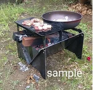 焚き火台 BBQ台 オリジナル 自作 ハンドメイド 焚火台 BBQコンロ 鉄板 フルセット セット ブラック 黒い 鉄製 アイアン