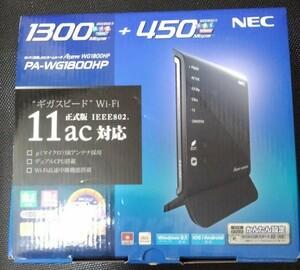 無線LANルーター Aterm NEC WG1800HP Wi-Fi 11ac
