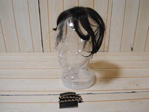 ギンカウィンカ●ドレスドヘアー 人毛100% 植毛仕上げ 幅広いヘアスタイル バング付/本体全長23cm/アッシュブラウン/1円スタート/ZS