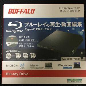 BUFFALO ポータブルブルーレイドライブ BRXL-PT6U3-BKD 未使用新品