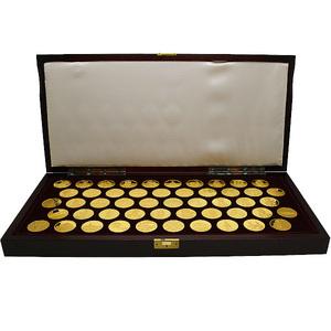 1円~ 送料無料・返品可♪仏教美術の至宝 メダルコレクション 925銀製 750個セット限定秘蔵版 フランクリン・ミント A+♪
