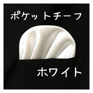【新品】ポケットチーフ【白】 ワンタッチ 挿すだけ ハンカチ パーティー 結婚式