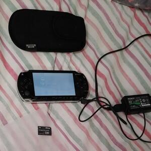 美品psp 1000 メモリースティックつき PSP本体 メモリーカード付き 収納カバー付き