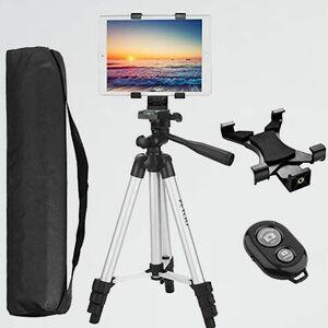 新品 好評 三脚 PEYOU C-3D タブレット iPad三脚 スタンド ビデオカメラ 1/4ネジ アルミ製 3WAY雲台 4段伸縮式 360°+90°回転