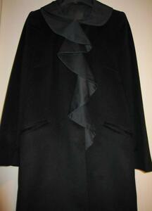 FENDI フェンディ 女優襟 カシミヤウールコート 42 ブラック