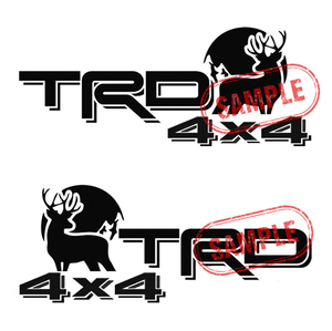 TRD OFFROAD カッティングステッカー 左右セット 2