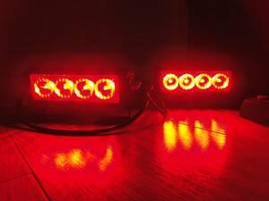パトライト LED前面警告灯 (赤色灯・ 集光灯) レッド 赤 警察・覆面・パトカー・緊急車両・右翼・街宣 サイレンアンプ 回転灯 01