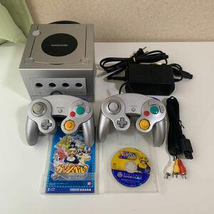 ゲームキューブ 一式 セット シルバー 任天堂 Nintendo ソフト付き +3500円で北米モード切替スイッチ