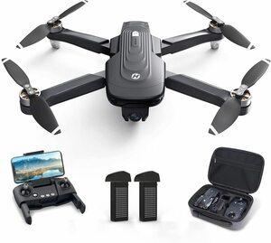 ■新品■Holy Stoneドローン 4Kカメラ付き GPS搭載 ブラシレスモーター バッテリー2個 フライト時間46分 110°広角カメラ 収納ケース付き