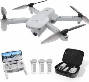 ■新品■Holy Stoneドローン GPS搭載 4Kカメラ付き フライト時間60分 バッテリー3個 収納ケース付き 高度維持 ヘッドレスモード 2.4GHz