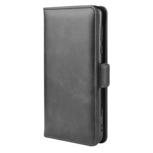 Galaxy A41 SC-41A SCV48 スマホケース サイドフリップ [ブラック] 手帳型 レザー ギャラクシー GalaxyA41