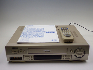 17【S.R】Victor ビクター S-VHS ビデオデッキ HR-S200 リモコン 説明書 付 香川発