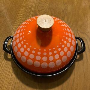 タジン鍋  両手鍋 オレンジ キッチン 鍋