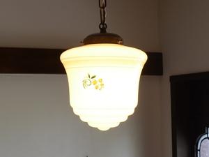 アンティーク照明 ヴィンテージ 吊り下げライト 乳白電笠 和モダン アール・デコ ミルクガラス ペンダントランプ
