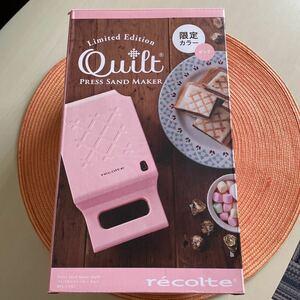 未使用!レコルトホットサンドメーカー 限定カラー ピンク