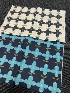 こばやし コットン生地 布 ハギレ2色セット日本製未使用ハンドメイド手作り用花柄 はぎれ 花柄