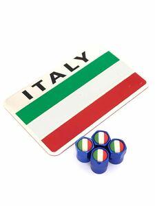 D 青 イタリア 国旗 ステッカー バルブキャップ エンブレム フェラーリ Ferrari F360 F355 812 F12 458 スパイダー カリフォルニア