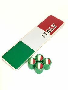 E 緑 イタリア 国旗 ステッカー バルブキャップ エンブレム フェラーリ Ferrari F360 F355 812 F12 458 スパイダー カリフォルニア