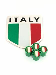 I 緑 イタリア 国旗 ステッカー バルブキャップ エンブレム フェラーリ Ferrari F360 F355 812 F12 458 スパイダー カリフォルニア