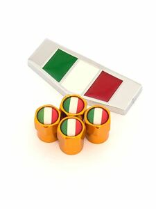 K 黄 イタリア 国旗 ステッカー バルブキャップ エンブレム フェラーリ Ferrari F360 F355 812 F12 458 スパイダー カリフォルニア