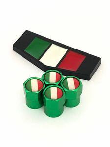 K 緑 イタリア 国旗 ステッカー バルブキャップ エンブレム フェラーリ Ferrari F360 F355 812 F12 458 スパイダー カリフォルニア 黒