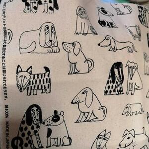リサラーソン 帆布 生地 最新 レア 108×30 dogs 生成り
