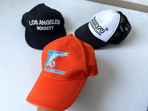 超美品●メンズ 帽子 キャップ福袋 まとめて まとめ売り 3点 セット 大量 洋服 古着 仕入れ