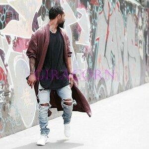 新品ダメージ加工 メンズデニムパンツ スキニーデニム ストレートジーパン ジーンズ メンズ ライダースジーンズ 通気 細身 紳士 カジュ