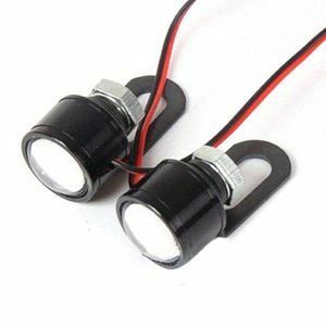 ◆安!2個 LEDオートバイハンドルバースポットライト ホワイトヘッドライト ドライビングライト フォグランプ