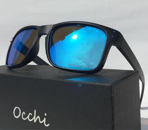 新品 OCCHI 偏光サングラス 偏光レンズUV400 軽量 ブルーミラ
