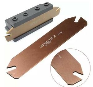 【在庫限り】1PCS 鋼旋削加工チップ 切削工具 溝切りカッター 旋削ホルダ SPB32-3 2PCS ZQMX3N11-1E用 32mm DIY 0037