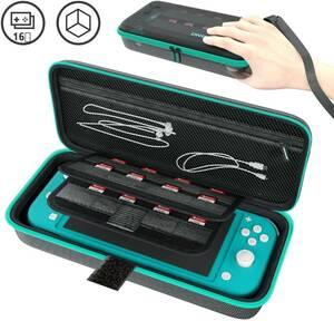 新品 Nintendo Switch Lite ニンテンドースイッチ ライト ケース 収納バッグ 保護カバー 外出や旅行用 EVA耐衝撃 防水(グリーン)