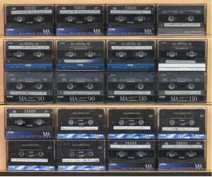 カセットテープ 中古 TDK メタルポジション MA 80分~110分 計20本