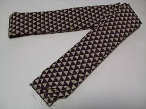 ◇期間限定 創作腰紐 正絹 腰紐 襷(たすき)  厄除け柄 鱗柄 紫&クリーム