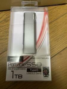 外付けポータブルSSD 1TB HIDISC 磁気研究所 USB3.2 Gen2 Type C HD2EXSSD1T30CJP3 未開封新品